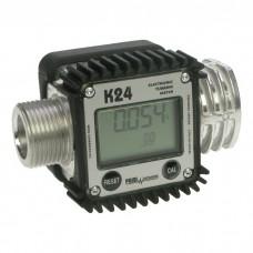 "Счетчик турбинный Piusi K24 A M/F 1"" BSP для води, ДП, масла F00408100"