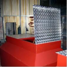 Колодец сливной с алюминиевой крышкой
