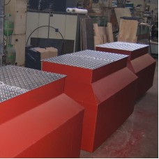 Крышка двойная технологического колодца алюминиевая